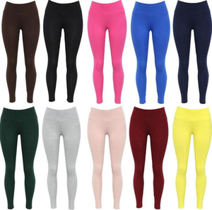 Wholesale Brand new Quality fabric solid color high waist yoga sports leggings W057 Women's Leggings