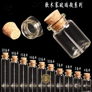 Wholesale mm ml Mini Glass Bottles Vials With Cork Empty Tiny Transparent Glass Bottle Jars