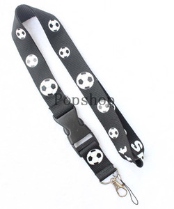 Soccer ball Lanyard Keychain Key Chain ID Badge cell phone holder Neck Strap.