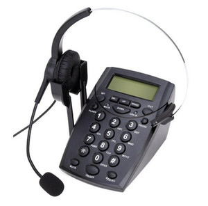 Wholesale call center for sale - Group buy Call Center Corded Phone With Redail Mute Dail Pad Phone Headset Suit For Agents Work At Home