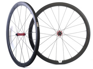 700C 38mm depth 25mm width carbon wheels road bicycle Tubular carbon wheelset with EVO straight pull hub, U-shape rim