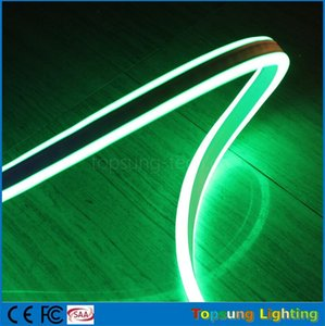 Best quality 50m spool 8*18mm double sided emitting led neon tube lights mini flexible green neon strip waterproof IP75 110V 120V on Sale