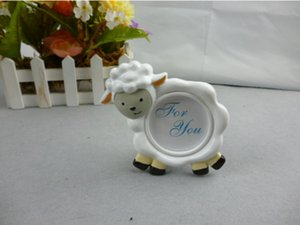 Wholesale 100pcs NEW ARRIVAL Lovely Sheep Design Picture Frame Photo Holder Baby Shower Favors Birthday Party Gift
