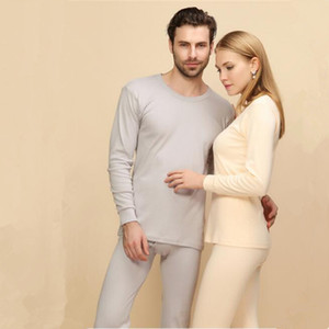 New Tide Russia China style Men casual Long Johns Suits gray black Solid color elasticity Cotton Blending long underwear Undershirts on Sale