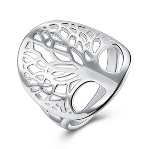 Wholesale tree rings for sale - Group buy Fashion design hollow tree ring silver fashion jewelry simple charm style cool birthday gift hot