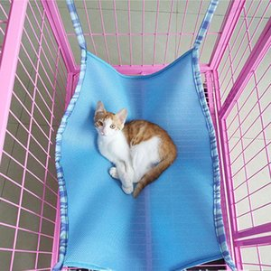 Wholesale 3 Colors size Breathable material Cat Hanging Bed Pet Cats Cage Hammock Summer Choice Cat Bed Hammock