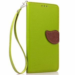 Wholesale I5 S Mobile Phone Cases Fashion Leaves Magnetic Flip Leather Case For iPhone S G Card Slot Wallet Holster Protective Cover