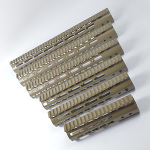 Wholesale keymod rails for sale - Group buy 7 inch ultralight Free Float Keymod Handguard Monolithic top rail FDE Tan Color Aluminum nut
