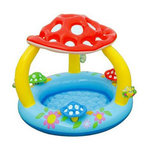 Wholesale Children s Swimming Pool Mushroom Sunshade Paddling Pool Inflatable Bottom Sea Pool Sandpit for Summer Outdoor Play