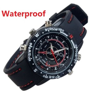 Wholesale Waterproof Watch Camera GB GB GB GB HD Sports Wrist Watch DVR mini DV audio video recorder Security surveillance