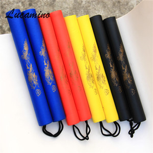(4pcs lot) 4C Martial Arts Foam Nunchaku Kids rope chains plastic sticks kung fu Wushu nunchucks Trainer For Children beginners wholesale