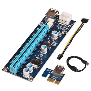 PCI-E PCI E Express 1X to 16X Riser Card +USB 3.0 Extender Cable SATA 15 Pin-6Pin Power Supply Cable For Bitcoin Mining