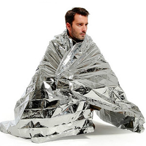 Wholesale Emergency blanket Portable Water Proof Emergency Survival Rescue Blanket Foil Thermal Space First Aid Sliver Rescue Curtain Outdoor
