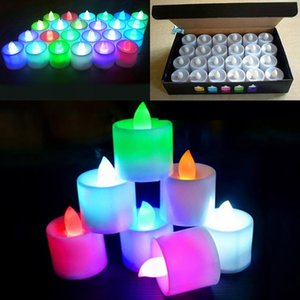 Wholesale New set LED Electronic Candle Lights Festival Celebration Electric Fake Candle Flickering Bulb Battery Operated Flameless Bulb WX9