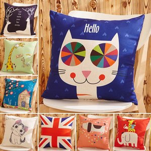 Wholesale Cartoon cat Elephant bird deer dog animal Series Throw Pillow Sofa car Office Back Cushion Baby Room Decorative