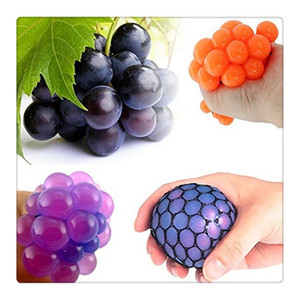 Wholesale 2017Fidget Toy Anti Stress Reliever Grape Ball Autism Moody Squeeze Relief Healthy Toy Funny Geek Gadget Vent Toy Color Random