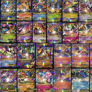Wholesale 100pcs All Mega Shiny No repeat Ex Cards 80 EX Ordinary Cards + 20 MEGA Cards Japan Charizard Cartes
