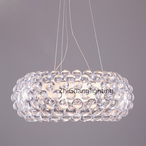 Wholesale kitchen pendent light resale online - New Chandeliers Foscarini Caboche Pendant Lamp Patricia Urquiola Eliana Gerotto Designed Clear Transparent Amber Acrylic Ball Pendent Light
