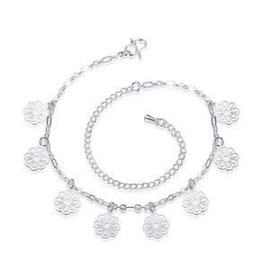 Wholesale New CHARM Silver Beads Anklets foot chain clothing quality free delivery for women jewelry