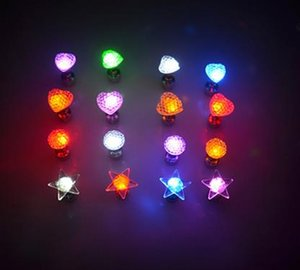 Wholesale Glow Earring Unisex Light Up LED Bling Ear Studs Earrings Xmas Club KTV Wine Bar Dance Party Grand Event Accessory bag filler
