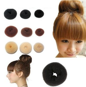 Wholesale 8 cm Hair Tool Synthetic Donuts Bud Head Hair Band Ball Hair Accessories for Women French Twist French Magic Bun Maker Sweet Christmas Gift