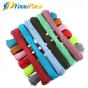110 Colors Dia. 2mm Paracord for Survival Parachute Cord Lanyard one stand Cores 100FT Rope Camping Climbing Camping Rope Hiking on Sale