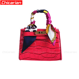 Wholesale candy color children handbags resale online - Chicarian Candy Color Kid Bag With Scarf Fashion Kids Handbag Designer Bags For Children Stylish Baby Bag New Toddler Messenger Bags CA054