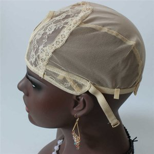 In Stock U Part Machine Wig Cap 5pc lot Blonde Color for Making Wigs Adjustable Strap Fast Shipping