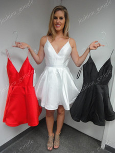 Wholesale short dresses junior graduation for sale - Group buy In Stock Homecoming Dresses Red Burgundy Black White Hunter Real Photo US Standard Size Plus Size Short Graduation Dress Junior Party