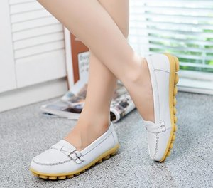 Casual women's shoes big yards female leather shoes mother nurse shoes flat with pregnant women free shipping