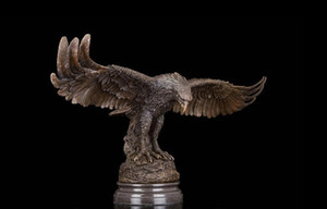 Wholesale Art Deco Sculpture Eagle Hawk Winged Flying Bronze Statue
