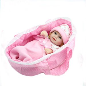 Wholesale Reborn Baby Girl quot Handmade Lifelike Soft Vinyl Real Life Baby Doll Toy Christmas Gifts Simulation Rebirth Doll Gift Doll