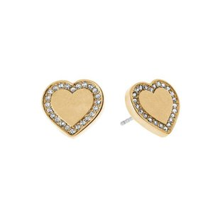 Wholesale New York Fashion tone Logo Pave Stud Earrings High quality crystal heart Earings fashion brand Wedding jewelry for women