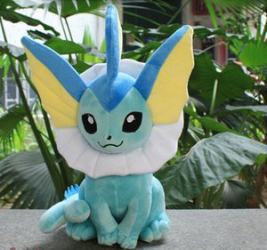 Wholesale OHMETOY New Vaporeon Plush Doll Sitting Pose Big Size quot Baby Dolls Anime Brinquedos Kids Toys Gift Tracking