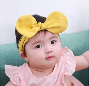 Cute Baby Big Bow Headband Bowknot Headbands Hair bands Cotton Hair Ties Hair Accessories Yellow Pink