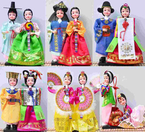 Wholesale The full shipping Korean folk silk doll doll features gifts Korean girl wedding gift ornaments