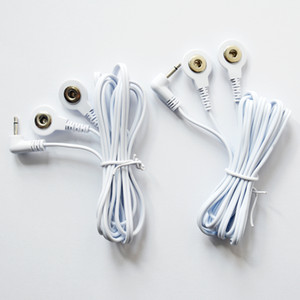 Tens Replacement Lead Wires - Two Snap Connectors, 2.5mm mini-jack, 3.5mm snap style