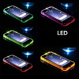 Wholesale Cool Calling Light Up Case For Iphone Plus Ultra Thin TPU LED Flashing Lighting Incoming Reminder Phone Cover For Samsung S8 S7 Note