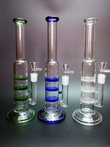 Best Glass Bongs Water Pipes Three Layer Honeycomb Filter Water Pipes Joint Oil Rigs Glass Water Pipes Bongs Hookahs