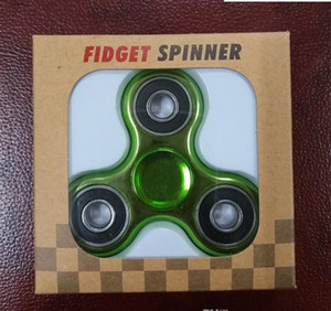 Wholesale New Colorful Fidget Spinner electroplate Colour Hand Spinner Plastic EDC For Autism And ADHD Children Toy Tri Spinner Fidget Toy HandSpinner
