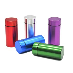 Wholesale Water Proof Rubber Air Tight Aluminum Airtight Cylinder Stash Case Tobacco Herb Storage Bottles Box