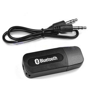Wholesale bluetooth for aux port resale online - Good Quality USB Car Bluetooth Adapter Audio Music Receiver Dongle mm Port Auto AUX Streaming A2DP Kit for Speaker Phone Headphone