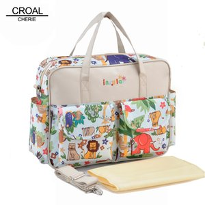 Wholesale cm Maternity Nappy Changing Map Mother Baby Diaper Bags Organizer Fashion Animal Flower Messenger Mummy Bag For Women