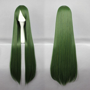 MCOSER New Style Touhou Project Mima 100cm Special Dark Green 100cm Long Straight Cosplay Wig Free Shipping