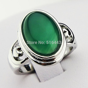 Wholesale silver jade stone sets for sale - Group buy New Arrival Guaranteed Malay Jade Stones Oval Vintage Retro Silver Rings for Womens Mens Jewelry A502