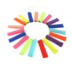 New Popsicle Holders 15x4cm Pop Ice Sleeves Freezer Pop Holders 10 colors DHL Fedex Fast Shipping
