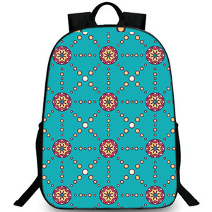 Wholesale Noble blue backpack Bubble pattern daypack Dot decorate schoolbag Leisure rucksack Sport school bag Outdoor day pack