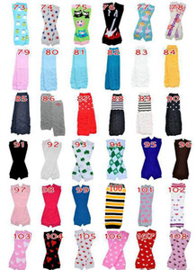 Wholesale 24Pair Baby Leg Warmer stripe snow square kids girls boys Leggings Children Christmas Legging Skull Socks adult arm warmers styles