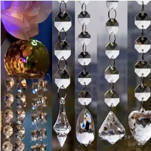 Wholesale New Design Acrylic Crystal Bead Garland Strand mm Bead Chains Drop Wedding Props Centerpiece Tree Curtain Decoration Hanging