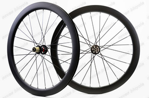 700C 50mm depth 25mm width carbon wheels Disc brake cyclocross carbon road bike wheelset Clincher  Tubular U-shape rim